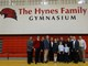 The Hynes Family in the gym