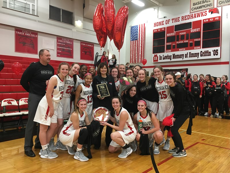 Girls' basketball coach Mary Pat Connolly picks up 400th ...